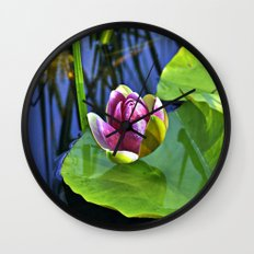 Summery Ode to the WATER LILY  Wall Clock