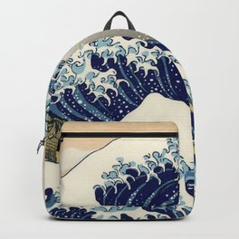 Katsushika Hokusai, The Great Wave off Kanagawa, 1831 Backpack