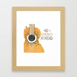 GuitarStrings Framed Art Print