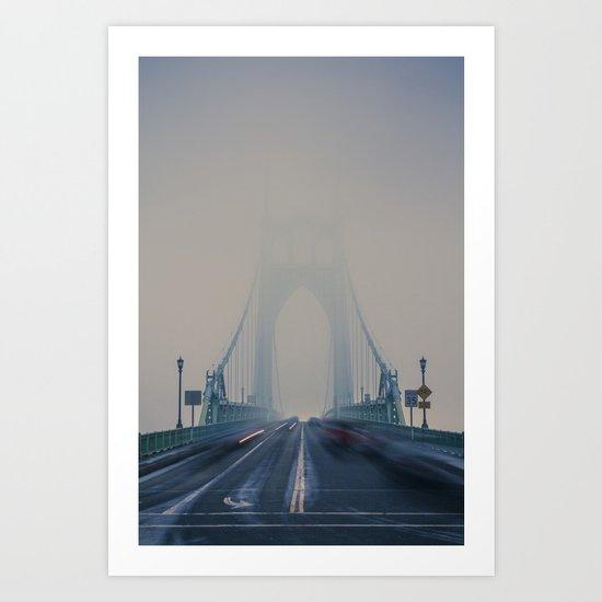 St. Johns Bridge Fog Art Print