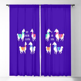 No Prob Llama Blackout Curtain