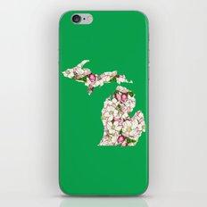 Michigan in Flowers iPhone & iPod Skin