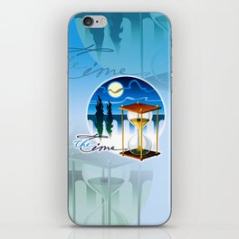 Sand-glass with southern landscape iPhone Skin