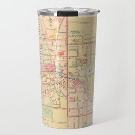 Vintage Map of Auburn NY (1904) Travel Mug