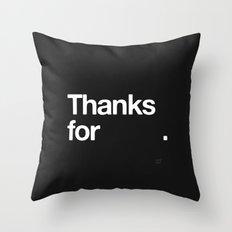 (NOTHING) Throw Pillow