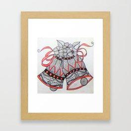 Jingle Bell Zentangle Framed Art Print