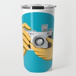 Retro 35mm Film Camera Clicking Travel Mug