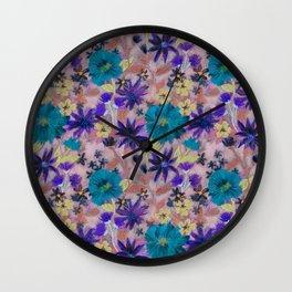 Elizabeth Floral Mauve Wall Clock