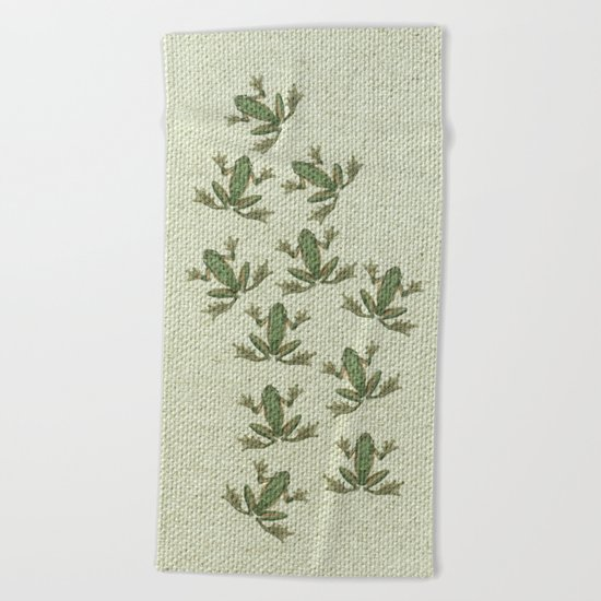 "Coletivo ""Pererecas"" Beach Towel"