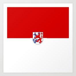 Flag of  Düsseldorf Art Print
