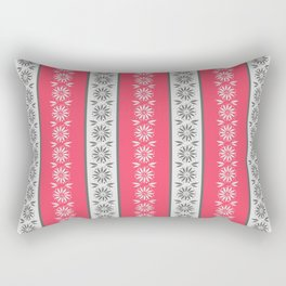 Gray and pink stripes. Rectangular Pillow