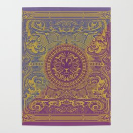 Medalion Purple Poster