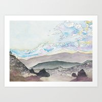 Afternoon in the Badlands Art Print