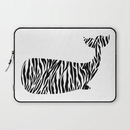 Whale with zebra print Laptop Sleeve