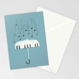 Singing in the rain Stationery Cards