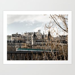 Bir-Hakeim bridge, Paris. Art Print