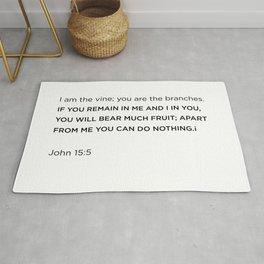 John 15:5 Rug