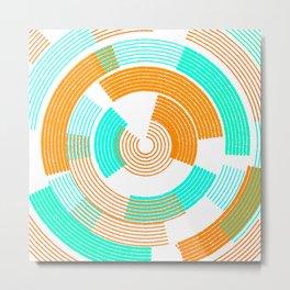 Minimal paint circle happy Metal Print