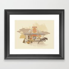Fast Food (Jungle King) Framed Art Print