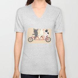 tandem bike Unisex V-Neck