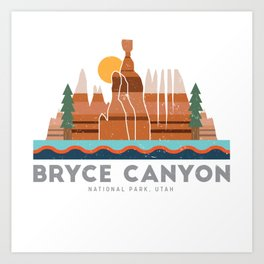 Bryce Canyon National Park Utah Graphic Kunstdrucke
