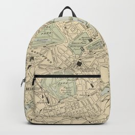 Vintage Map of London England (1901) Backpack