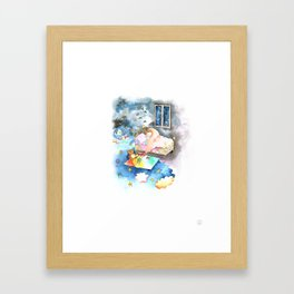 Dream big my little baby Framed Art Print