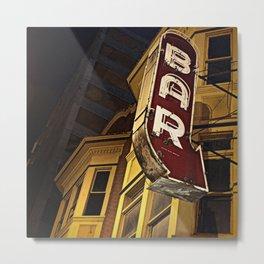 Bar Sign Metal Print