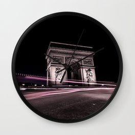 Arc de triomphe Paris France Wall Clock