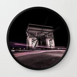 Arc de triomphe Paris France Wall Clock