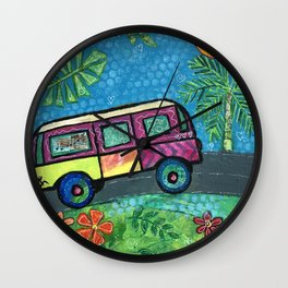 Volki Van Journey Colage Painting Wall Clock