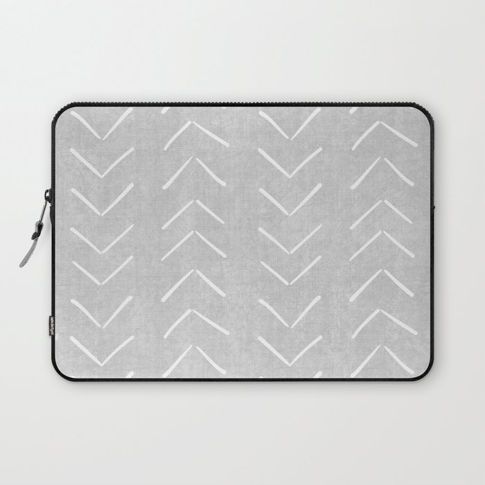 Mudcloth Big Arrows in Grey Laptop Sleeve
