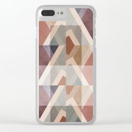 Textured Geometric Abstract Clear iPhone Case