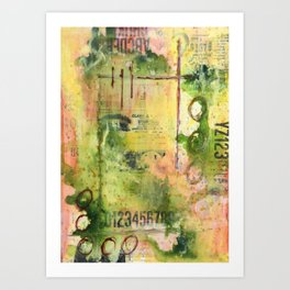 Graphically Abstract No.2 Art Print