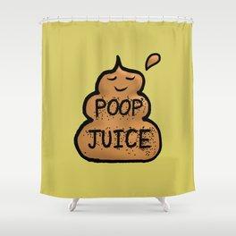 Poop Juice Shower Curtain