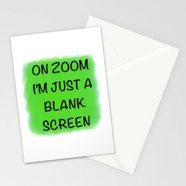 Blank Screen Stationery Cards