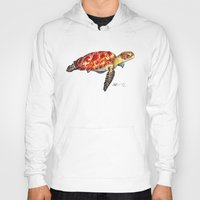turtle Hoodies featuring Turtle by Alexander Cox