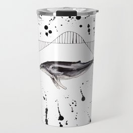 Whale wave Travel Mug