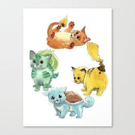 Starter Pokekittens Team Canvas Print