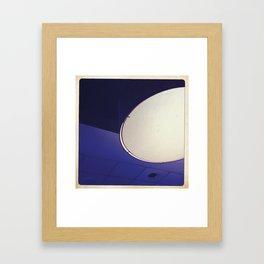 blue light disco Framed Art Print
