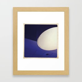 blue light disco Framed Art Print