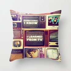 Everything I Know Throw Pillow