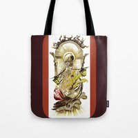tarot Tote Bags featuring Sun Tarot by A Hymn To Humanity