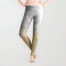 Gold Dust on Marble Leggings