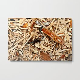 Abstract Texture Of Wooden Chips And Shavings Metal Print