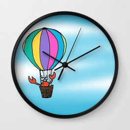 Percy Purcell the Worried Crab Wall Clock