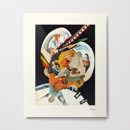 HOLLYWOODLAND 4 Metal Print