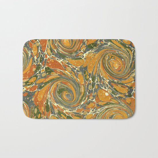 Old Marbled Paper 03 Bath Mat