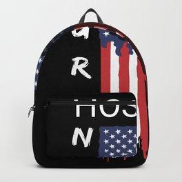 Nurse Hospice American Flag USA Nursing Backpack