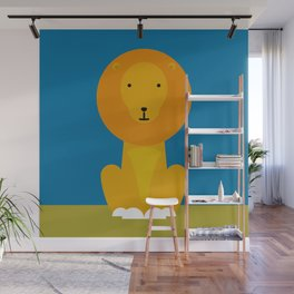 Happy Lion Wall Mural